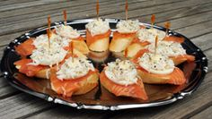 Basque Tapas: Salmon with Egg and Mayonnaise on Bread