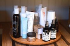 organize beauty products lazy susan square