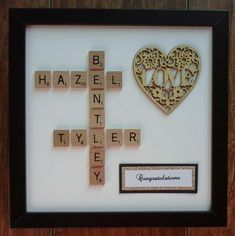 Your place to buy and sell all things handmade Scrabble Letter Crafts, Scrabble Coasters, Scrabble Tile Crafts, Wooden Scrabble Tiles, Scrabble Frame, Scrabble Art, Letter Pictures, Picture Letters, Picture Frame