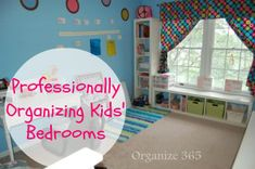 Do you struggle with keeping your kids' bedroom organized? Here are the top 5 lessons I have learned while professionally organizing kids bedrooms.   Organize 365
