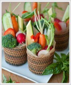 cestas de verduras ecológicas
