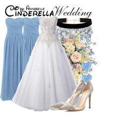Cinderella - Wedding by annabelle-95 on Polyvore featuring JS Collections, Gianvito Rossi, Forever New, Kwiat and Miadora