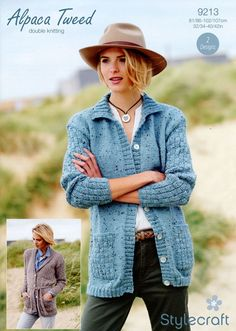 Cardigans in Stylecraft Alpaca Tweed DK (9213) | Deramores