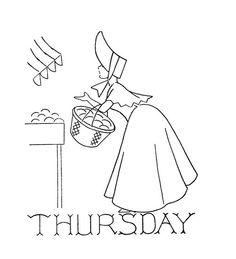 Thursday Bonnet Lady Days of the Week