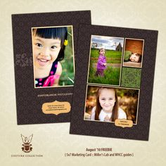 free Promo Card Template Download - Miller's Lab andWHCC - News & Musings - Photographer Photoshop Templates and Marketing Materials