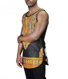 Afrination Dashiki Vest