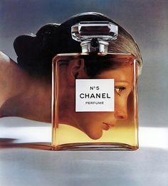 Model Vicki Hilbert for Chanel No.5 Perfume ad, photographed by Richard Avedon