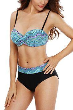 064ce83e54360 BeautyIn Women s Sexy Twist High Waist Bandage 2PCS Bikini Set Swimsuit M