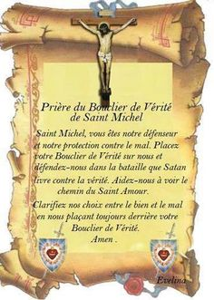 """Prayer of the Shield of Truth of Saint Michael """"Saint Michael, you are our defender and our protection against evil. Place your Shield of Truth on us and defend us in the battle that Satan is waging against the truth. St Michael Archangel Prayer, St Michael Prayer, Archangel Prayers, St Micheal, Let's Pray, Beautiful Love Pictures, Catholic Prayers, Guardian Angels, Religious Quotes"""