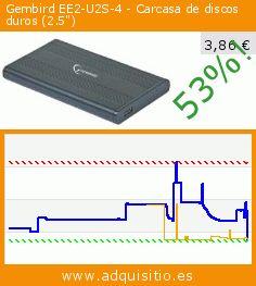 """Gembird EE2-U2S-4 - Carcasa de discos duros (2.5"""") (Ordenadores personales). Baja 53%! Precio actual 3,86 €, el precio anterior fue de 8,19 €. http://www.adquisitio.es/gembird/ee2-u2s-4-carcasa-discos"""