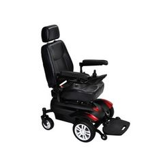 Drive Medical Titan Transportable Front Wheel Power Wheelchair. The front wheel drive Titan power wheelchair is a comfortable and stylish option for users seeking a transportable power mobility product that's ideal for indoor and outdoor use.