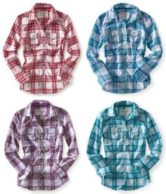 Aeropostale Juniors Button Down Shirt – Style « Clothing Impulse