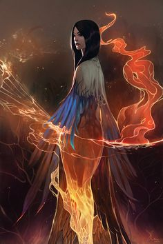 previous pinner: Once in their several thousands of years alive, a Phoenix may take human form...