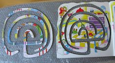 Ballygarrett Art Studio: more tactile labyrinth making -