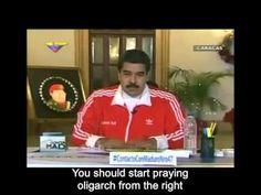 Dios quiera que Venezuela abra los ojos y este domingo tire por la borda a este tirano. Miren este video porque no es un video más! Es impresionante lo que este hombre se atreve a decir: https://www.youtube.com/watch?v=cF_A2OKo6eQ