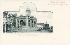 """Pabellón del """"Circulo Valenciano"""".Feria de Valencia del 20 al 31 de Julio 1902. Fotografía de V. Barberá Masip"""