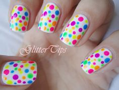 Looking for a cute way to spice up your manicure? Think polka dots! This cute pattern is a sure fire way to create a unique and pretty nail art design. Below are 10 polka dot nail art ideas that will will add the perfect pop to your look. Dot Nail Art, Polka Dot Nails, Polka Dots, Love Nails, Fun Nails, Neon Toe Nails, Nailed It, Dot Nail Designs, Manicure Y Pedicure