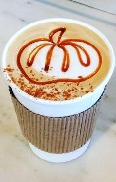 Pumpkin latte art