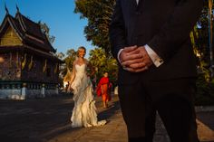An Australian couple's destination wedding in Luang Prabang, Laos. VENUE: Luang Say Residence. #laoswedding #luangprabangwedding