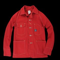 UNIONMADE - Post Overalls - Engineers Jacket in Cotton Twill Red