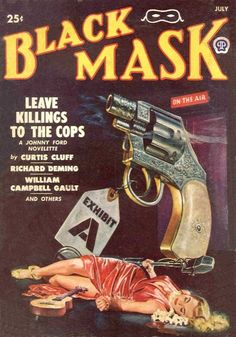 """A collection of covers from """"Black Mask,"""" the vintage pulp fiction magazine."""