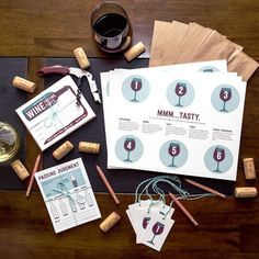Printable Wine Tasting Party Kit | Semi Sweet Press