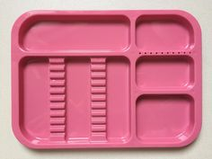 1 Pc Dental Instrument autoclavable plastic trays Standard Divided Type Red #UnbrandedGeneric