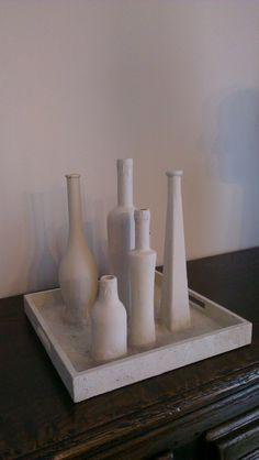 Vrolijke vazen Hergebruik flessen Re-use bottles as vases
