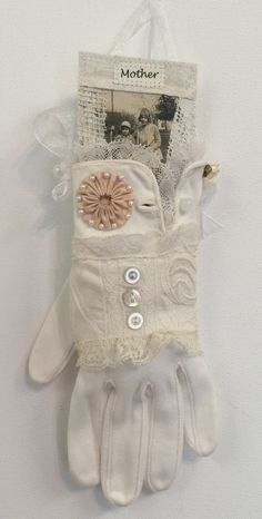 Embellished Vintage Glove Memento for by JudyMurrahDesigns on Etsy