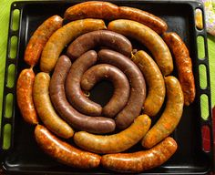 Hurka & Kolbász (sausages) Both Hungarian sausages that come in a variety of meat types and flavors, hurka is generally boiled and kolbász is generally smoked. Hungarian Sausage Recipe, Hungarian Recipes, Hungarian Desserts, Hungarian Cuisine, Hungarian Food, Sausage Recipes, Cooking Recipes, Chorizo, How To Make Sausage