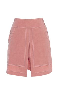 Chambray Pink Lanai Skirt by Temperley London Romper With Skirt, Romper Pants, Shorts, London Now, Lanai, Who What Wear, London Fashion, Chambray, Temperley