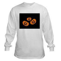 3 pumpkins Long Sleeve T-Shirt> Halloween> MehrFarbeimLeben