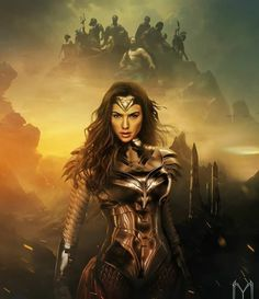 Wonder Woman is a 2017 American superhero film based on the DC Comics character of the same name, distributed by Warner Bros. Wonder Woman Art, Wonder Woman Comic, Gal Gadot Wonder Woman, Wonder Woman Cosplay, Amazonian Warrior, Super Heroine, Comic Pictures, Dc Comics Characters, Comic Movies