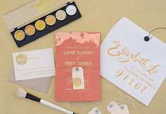 Oh So Beautiful Paper: DIY Tutorial: Copper and Gold Gilded Wedding Invitations : so insanely pretty but really? who has time to do EVERY invitation?!