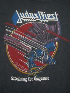 425abd1f331 Original JUDAS PRIEST vintage 1983 tour T SHIRT
