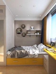 Small Room Design Bedroom, Small Bedroom Interior, Small House Interior Design, Small Apartment Design, Bedroom Closet Design, Bedroom Furniture Design, Home Room Design, Interior Design Videos, Daily 5