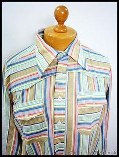 pastel 70s vintage stripe shirt