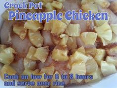 A Journey of O's and A's with Blood Type and Diet: Crock Pot Pineapple Chicken . thinking of doing cauliflower rice with this Baby Food Recipes, Diet Recipes, Cooking Recipes, Healthy Recipes, Group Recipes, Recipies, Whole30 Recipes, Diet Tips, Healthy Foods