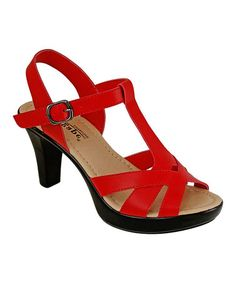Look what I found on #zulily! Red Strappy Polina Sandal #zulilyfinds