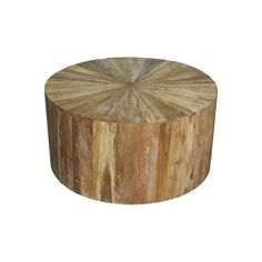 Noir - Round Teak Wood Coffee Table