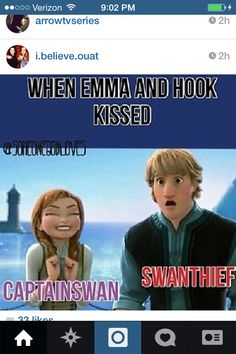 CaptainSwan FOREVER -- Actually Kristoff has a CSer's reaction as well.