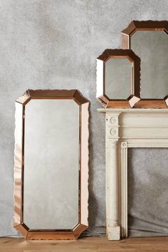 Sculpted Beaumont Mirror: http://www.stylemepretty.com/living/2015/10/24/spotted-on-saturday-rose-gold-finds-for-the-home/