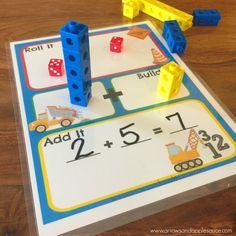 29 New ideas printable math games kindergarten dice Addition Games, Math Addition, Addition And Subtraction, Addition Activities, Simple Addition, Learning Numbers, Learning Tools, Learning Activities, Kids Educational Games