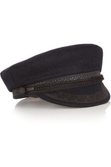 Finds + Lock & Co Hatters embroidered wool-blend felt cap | NET-A-PORTER