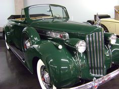 1939 Packard. Photo taken at LeMay Museum in Tacoma, WA., USA.