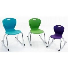 Artcobell's Discover Rocker Chair is an excellent addition to the classroom as an active seating option for students. Hard stoppers on the front and back of rocking bars reduce the chance of flipping. Student Chair, Wooden Folding Chairs, White Armchair, Classroom Furniture, Class Design, Good Posture, Tubular Steel, Indoor Air Quality, Youth Center