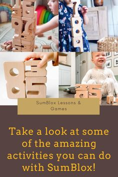 Jul 10, 2020 - With simple direction children can enjoy playing with SumBlox for hours. These are examples of different lessons and games that will encourage children to engage with learning and further advance their mathematical skills.