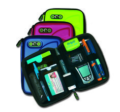 Great, modern kitbag, choose a Diabete-Ezy bag from Metallic Blue, Lime Green and Watermelon Pink