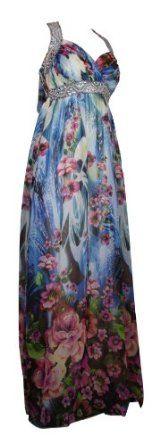 EVENING DRESS Long Elegant Halter Neck Evening Gown Summer Maxi Dress For Ladies Women #evening #dress