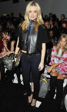 Laura Whitmore At The Felder Felder AW13 Show At London Fashion Week, 2013 *